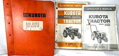 Kubota Oem Dealer Set Of Parts Catalogs Tractors Generators Loaders Mowers