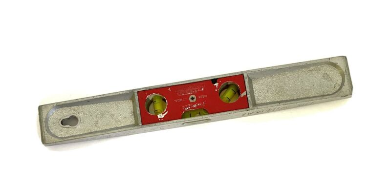 """Vintage Stanley Handyman 9"""" Torpedo Level H1291 3 Bubbles Made in USA"""