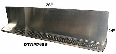 Draft Beer Tower Wall Mt Drip Tray 76 L - S.s. Grill - Drain Dtwm76ss