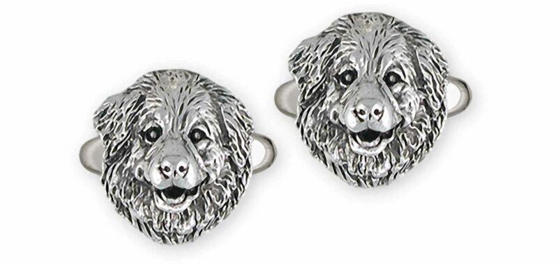 Great Pyrenees Jewelry Sterling Silver Handmade Great Pyrenees Cufflinks  GPR31X