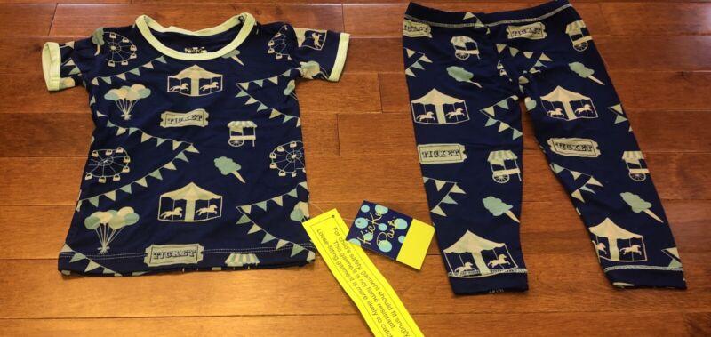 Kickee Pants Toddler Boy Flag Blue Carnival Pajamas 12-18 Months New