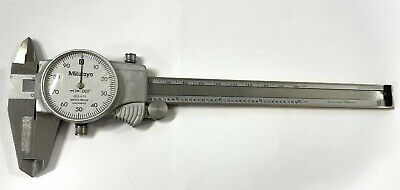 Mitutoyo 505-675 Dial Caliper With Tin Coated Beam 0-6 Range .001 Graduation