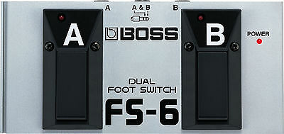 Boss FS-6 Dual Latch and/or Momentary Footswitch Stomp Box Pedal
