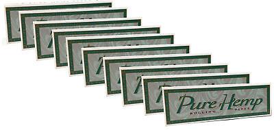 10 Pack Pure Hemp Regular Single Wide Cigarette Rolling Papers 500 Leaves -
