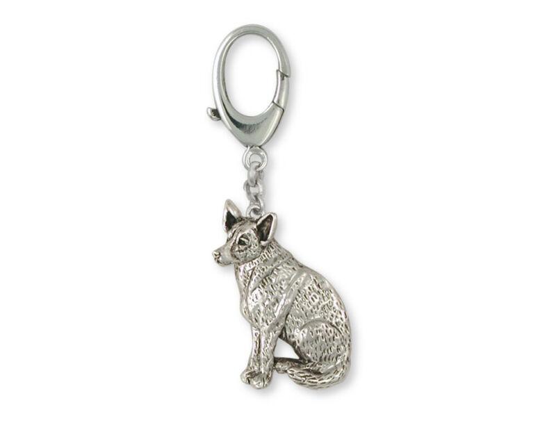 Australian Cattle Dog Zipper Pull Jewelry Sterling Silver Handmade Dog Zipper Pu