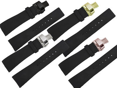 Rubber Black Deployment Watch Strap Band For (Fits) I-Gucci Digital - Digital Rubber Strap Watch