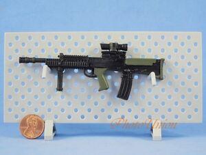 Action Figure 1:6 Scale SA80 L85 L85A2 British Rifle MACHINE GUN MODEL Green G17