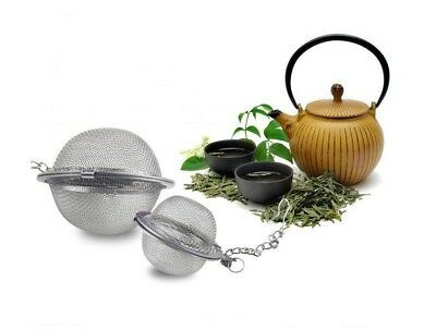 - Tea Infuser Ball Mesh Loose Leaf Herb Strainer Stainless Steel Secure Locking
