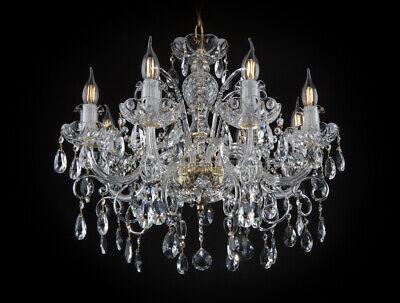 Araña de Cristal Oro 24k Lámpara de Techo Lámpara Colgante De