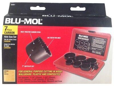 Blu Mol 6561 7 Piece Carbon Hole Saw Set Aggressor