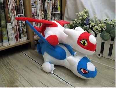 2x Pokemon Go Latios Latias Soft Plush Stuffed Animal Toy Doll Kid Birthday Gift