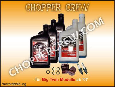 Harley TwinCam ab '07 Öl Service 20W50 FLH RevTech Inspektionskit GP6,87€/L #355