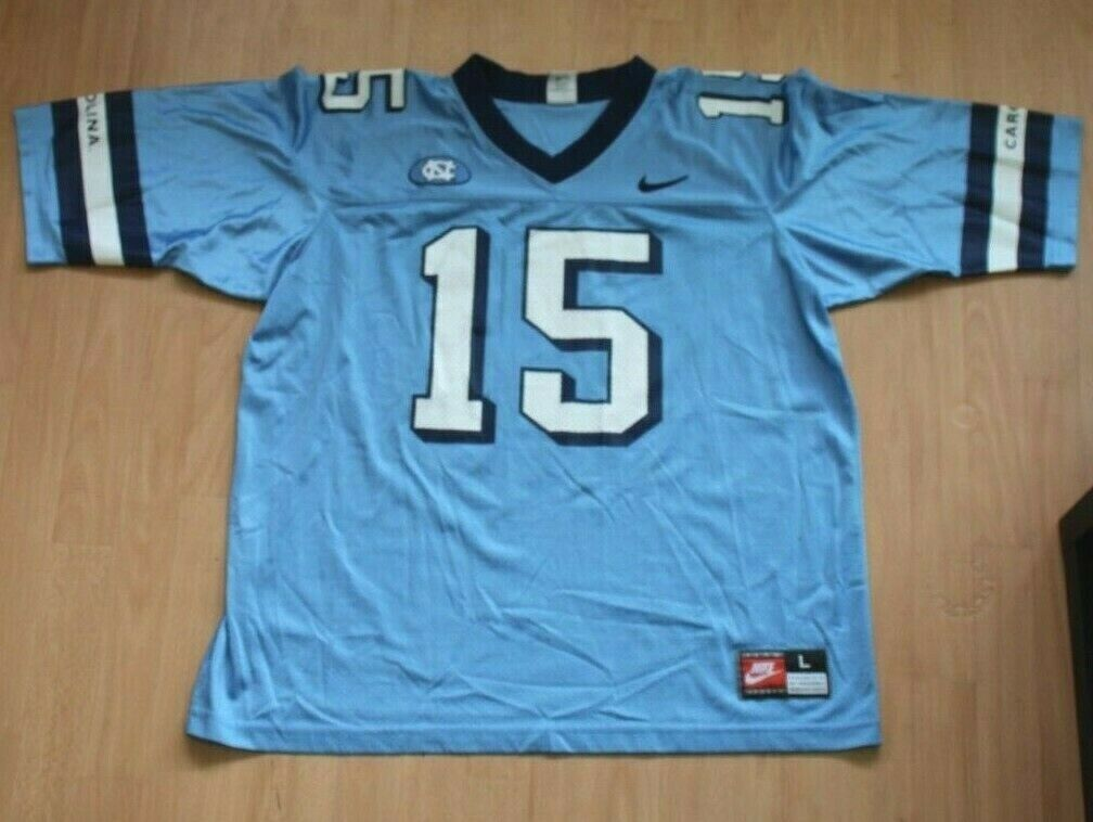 1099 North Carolina University Tar Heels UNC Nike Jersey Sz L Football #15