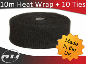 Exhaust-Manifold-Downpipe-Black-Heat-Wrap-10m-Ties-rap