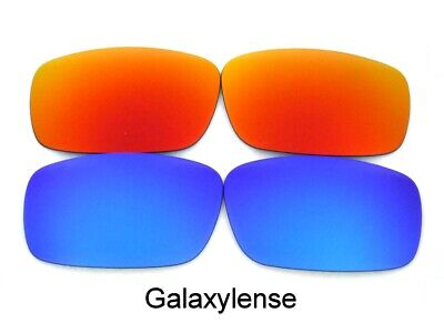 Galaxy Replacement Lens For Oakley Sideways Sunglasses Blue&Red Polarized (Sideways Sunglasses)
