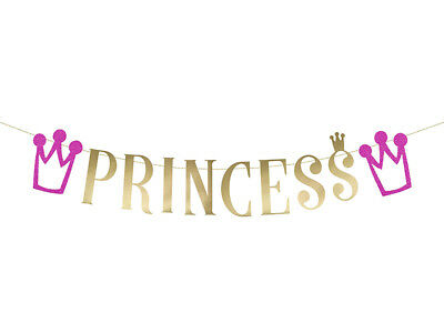 Banner-Set Princess Prinzessin Party-Dekoration pink gold Buchstaben Krone ()