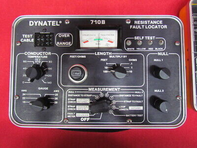 3m . Dynatel 710b Portable Resistance Fault Locator