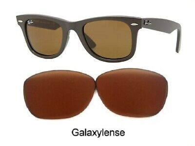 Galaxy Replacement Lenses Ray Ban RB2140 Original Wayfarer Brown 50mm (Wayfarer Rb2140 Replacement Lenses)