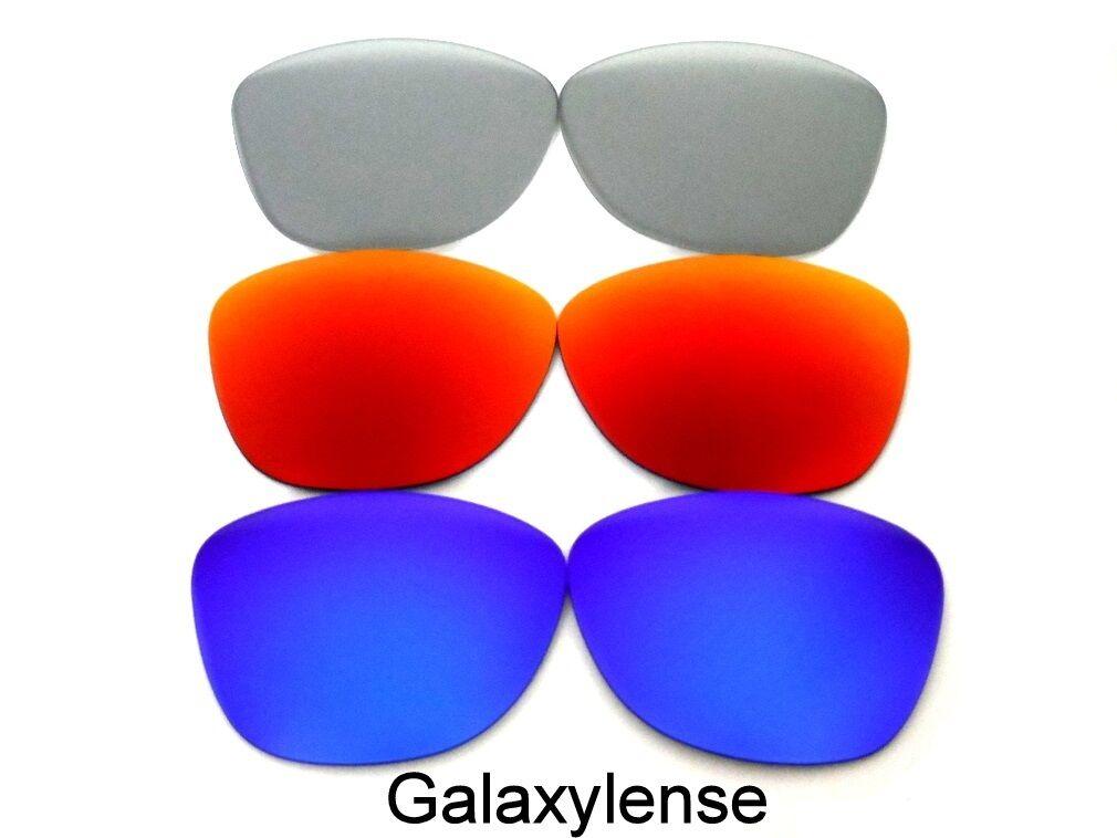Galaxia lentes de recambio para Oakley Frogskins azul   rojo   gris  polarizaron 3 pares ff91f0b0ae