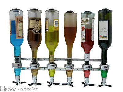 Getränkeportionierer für 6 Flaschen - Flaschenhalter für die Wand - Bar Butler