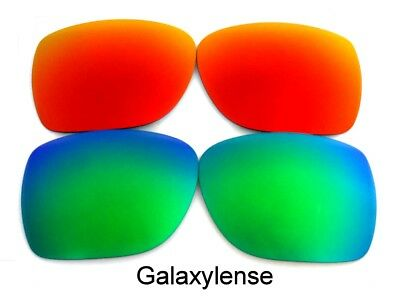 Galaxy Replacement Lenses For SPY Optic Discord Sunglasses Green&Red (Spy Optics Lenses)