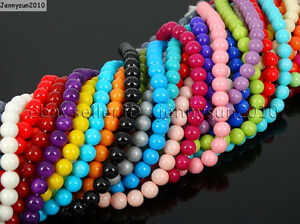 Czech-Opaque-Coated-Glass-Pearl-Round-Beads-16-039-039-4mm-6mm-8mm-10mm-12mm-14mm-16mm