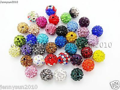 Beads - 20Pcs Quality Czech Crystal Rhinestones Pave Clay Round Disco Ball Spacer Beads