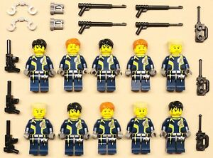 x10 NEW Lego Agents Minifigs People Guy Men Lot ARMY GUYS