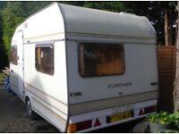 Clean 3/4 berth Caravan. Compass Omega 430.