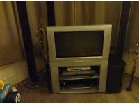 "JVC AV-28R57SK 28"" flat screen TV with remote"