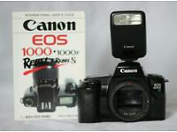 Canon EOS1000f SLR Camera, Comprehensive Guide Book and Speedlite Flash