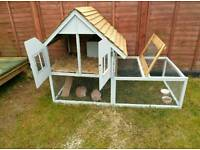 Rabbit hutches built to order.