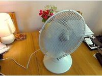 Medium oscillating fan, white