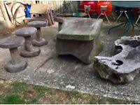 Philippines wood garden furniture set