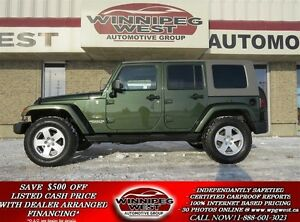 2007 Jeep WRANGLER UNLIMITED SAHARA, TRAIL RATED 4X4, 2 TOPS, CL