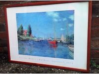 Large Monet Print RED BOATS