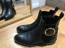 Black Boots - Zara - Size 37