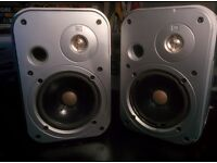 JBL Control 1 speakers/monitors, pair, damaged but functioning