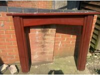 Used Large wood fire surround