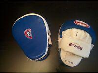Boxing Focus Pads (Punching Mitts), Farabi, Blue White