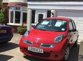 NISSAN MICRA 5 DR 2009 VISIA DCI. LADY OWNER LAST 6 YRS. SERVICE HISTORY. NEW CAMBELT 2017. 83K.
