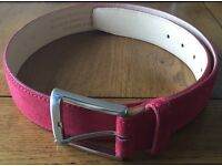 Men's leather belt - red