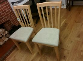 2 X white dining room chairs