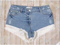 joblot/wholesale 10 pairs brand new women's denim shorts