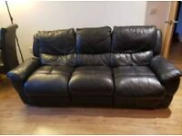 3 seaters + 2 seaters faux leather sofas