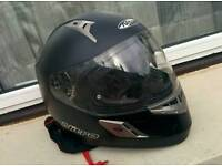 Nitro NSFP DVS Uno Motorcycle, Motorbike Crash Helmet with sun visor inc helmet bag
