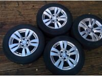 Mercedes wheels and tyres set
