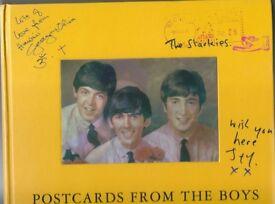 Hardback Book / Ringo Starr - Postcards From The Boys / Beatles / Facsimile Signature
