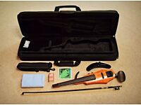 Brand New NS Design Wav-4 Electric Violin Combo - Carbon Bow, Extras
