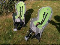 2 Hamax Kiss Rear Child Bike Seat